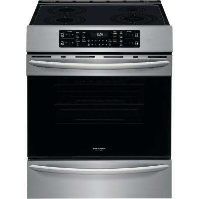 30 in. 5.4 cu. ft. Front Control Induction Range with Air Fry in Stainless Steel