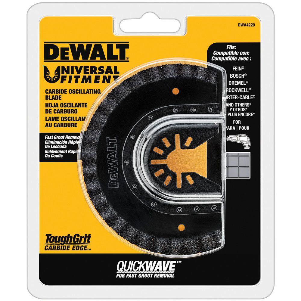 DeWALT Oscillating Fast Cut Carbide Grout Removal Blade