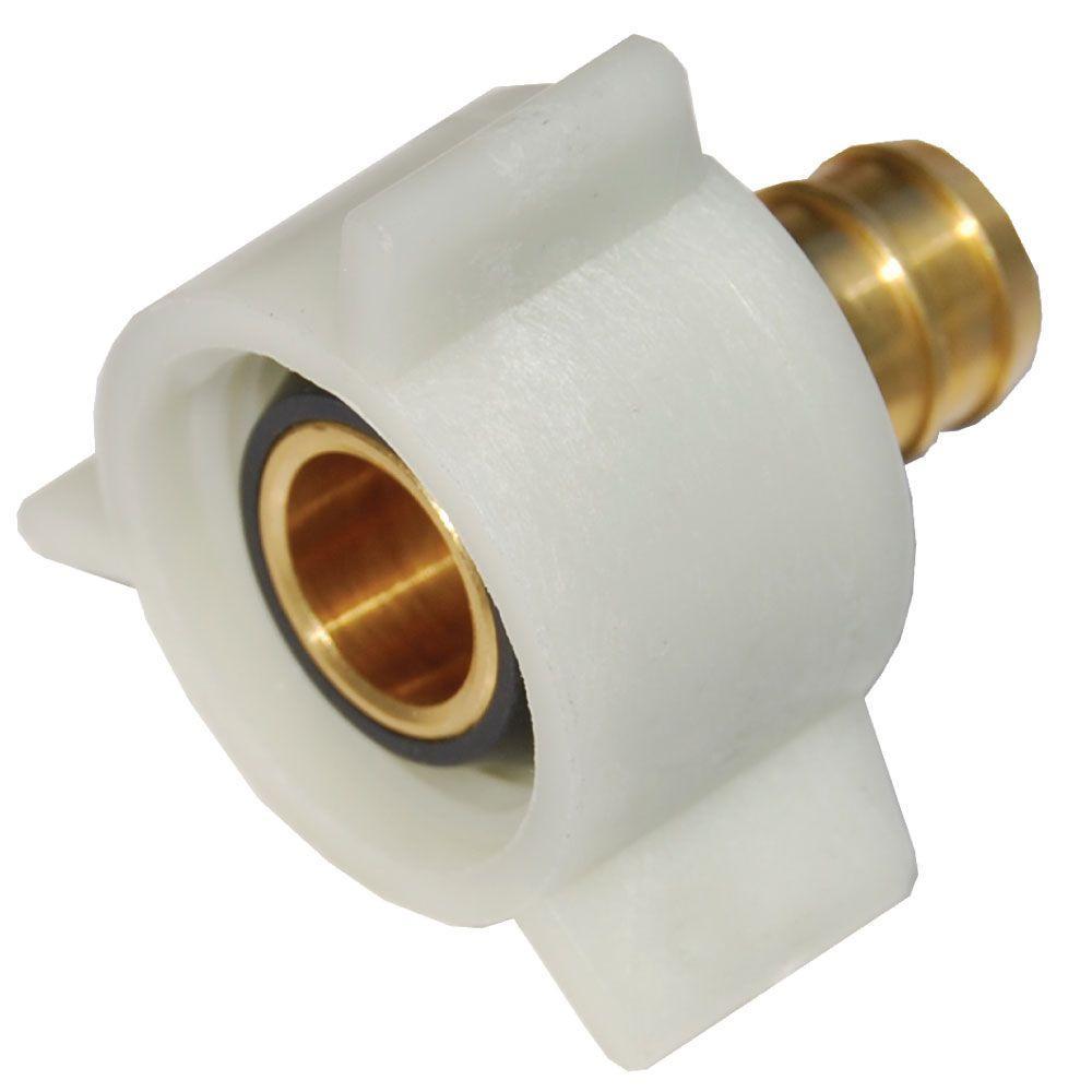 null 1/2 in. Brass PEX Barb x Female Swivel Adapter