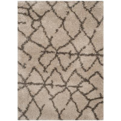 Belize Shag Taupe/Gray 4 ft. x 6 ft. Area Rug