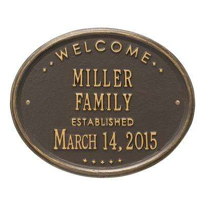 Welcome Oval Family Established Personalized Plaque