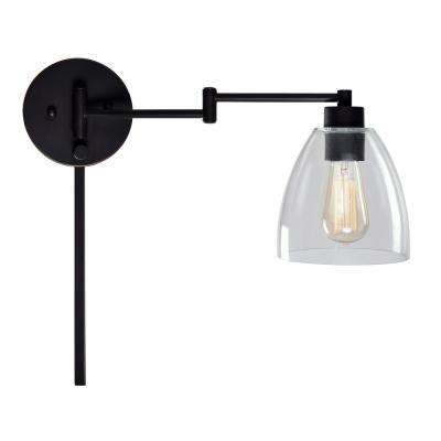 Edis 1-Light Bronze Wall Swing Arm Lamp