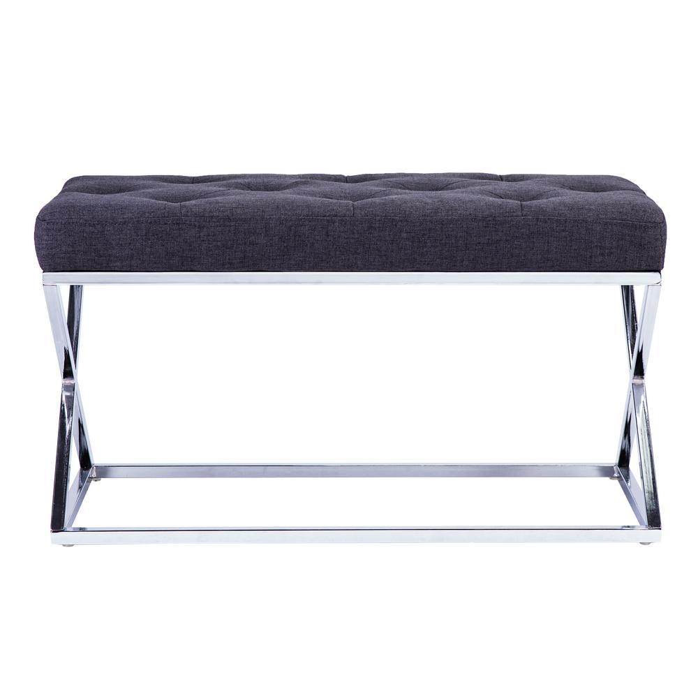 Lienz Gray Upholstered Bench