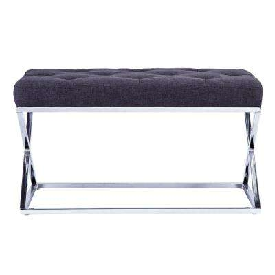 Lienz Gray Upholstered Bench