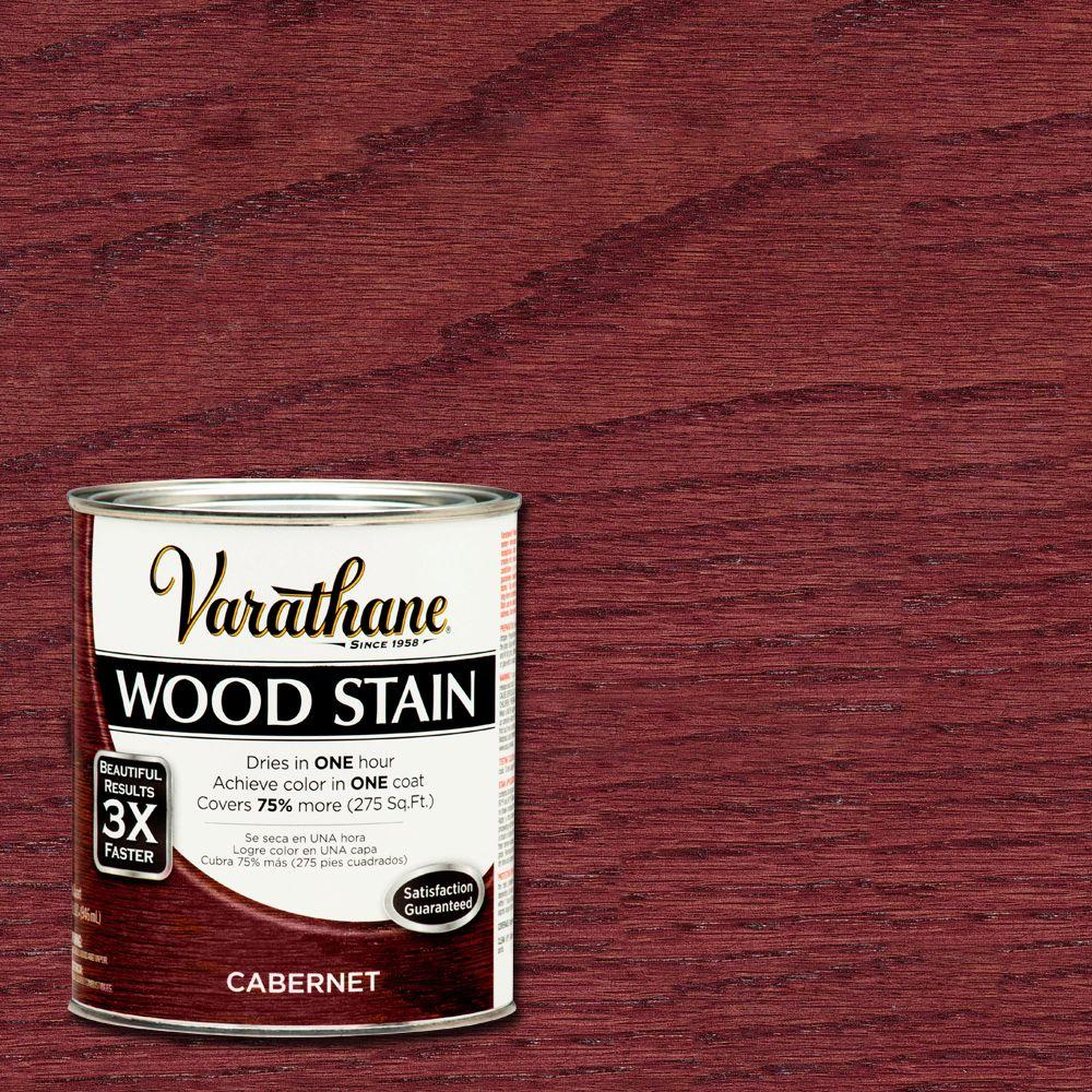 Superb Varathane 1 Qt. Cabernet Premium Wood Interior Stain (2 Pack) 266157   The Home  Depot