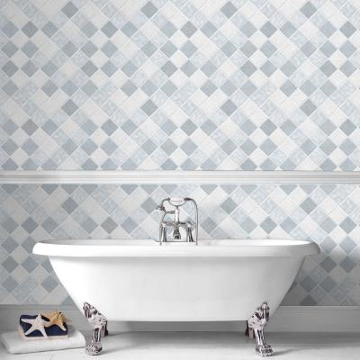 Horizon Blue and White Removable Wallpaper