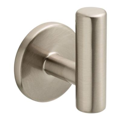 2-1/32 in. Satin Nickel Single Post Wall Hook
