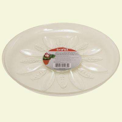 12 in. Heavy Duty Clear Plastic Saucer