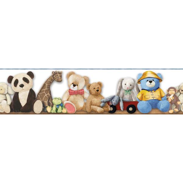 York Wallcoverings Brothers and Sisters V My Favorite Teddy Wallpaper Border