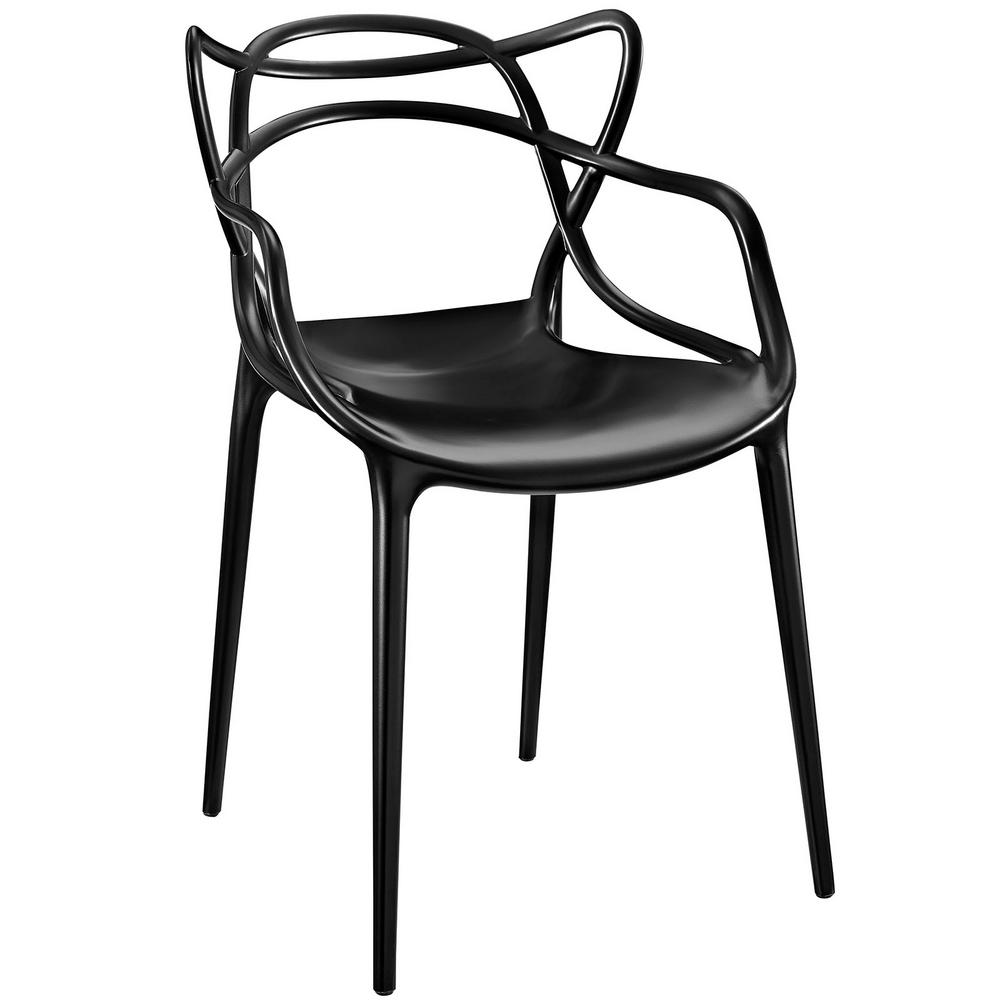 Entangled Black Dining Arm Chair