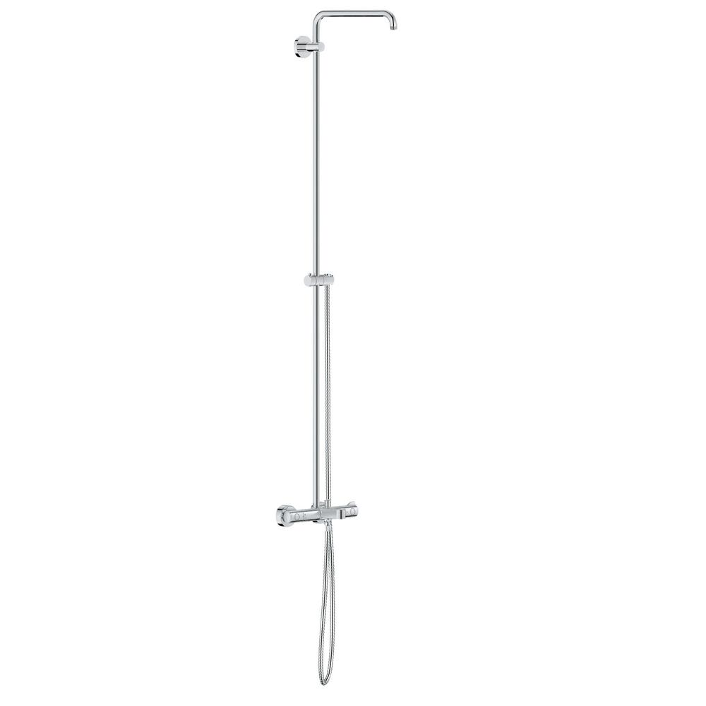 Bare Euphoria 57 in. Retrofit 1-Jet Shower System in StarLight Chrome