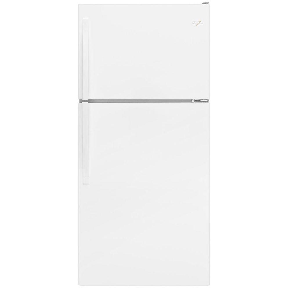 Whirlpool 30 in w 18 2 cu ft top freezer refrigerator in white wrt318fmdw the home depot - Whirlpool discount ...