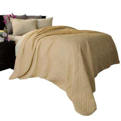 Solid Color Taupe Full/Queen Bed Quilt