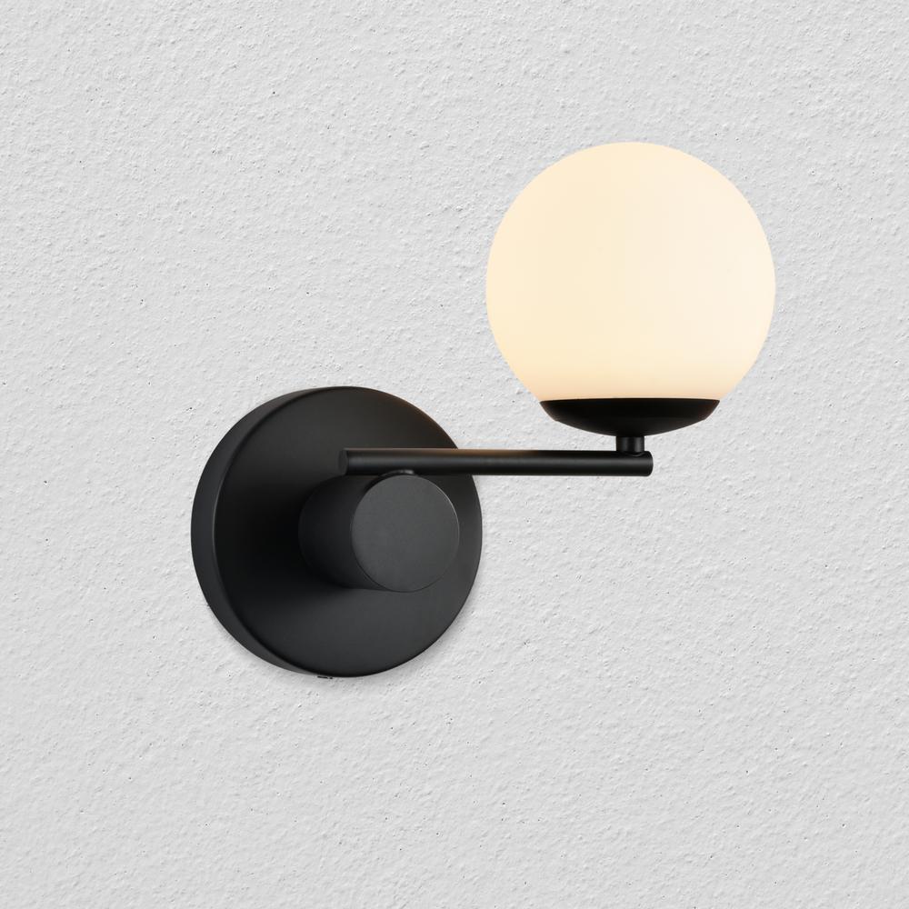 Capri 9.25 in. Black Integrated LED Sconce