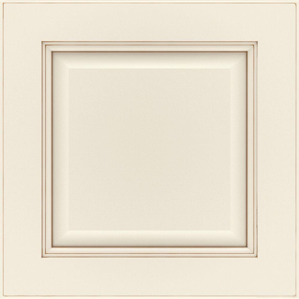 Thomasville 14.5x14.5 In. Manteo Cabinet Door Sample In Cotton With Toasted  Almond