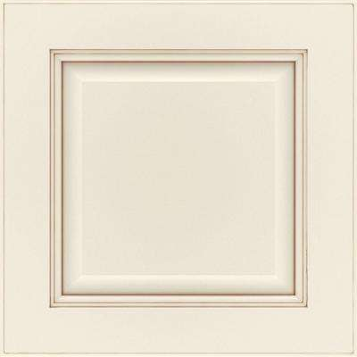 14.5x14.5 in. Manteo Cabinet Door Sample in Cotton with Toasted Almond