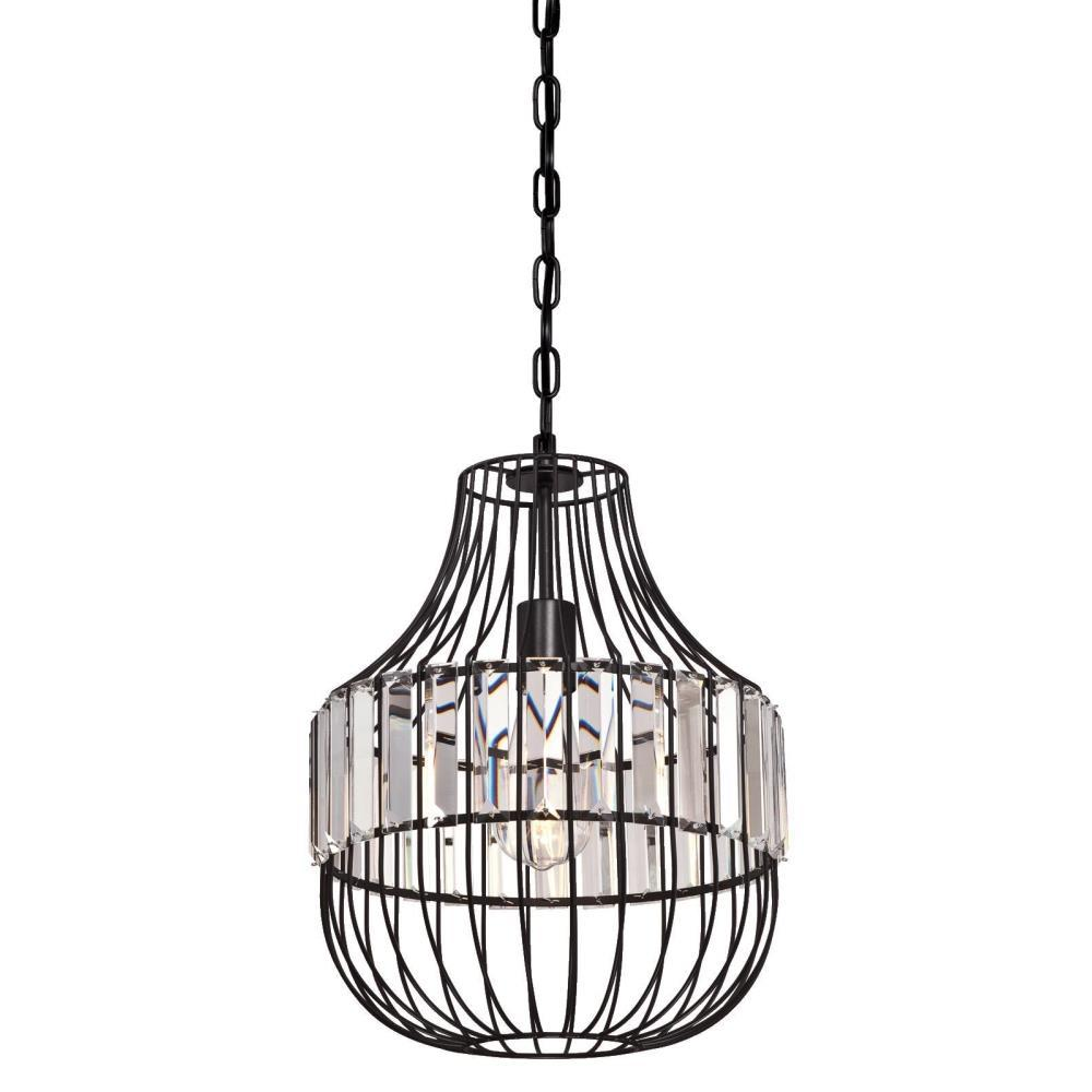 Westinghouse 1-Light Matte Black Pendant