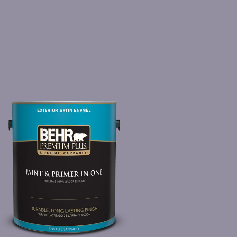 1-gal. #N560-4 Evening in Paris Satin Enamel Exterior Paint