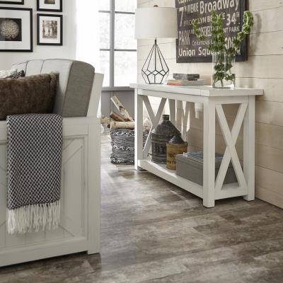Seaside Lodge Hand Rubbed White Console Table