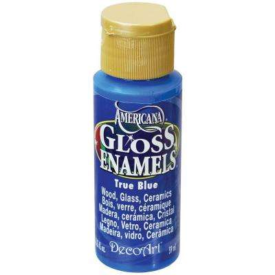 2 oz. True Blue Gloss Enamel Paint