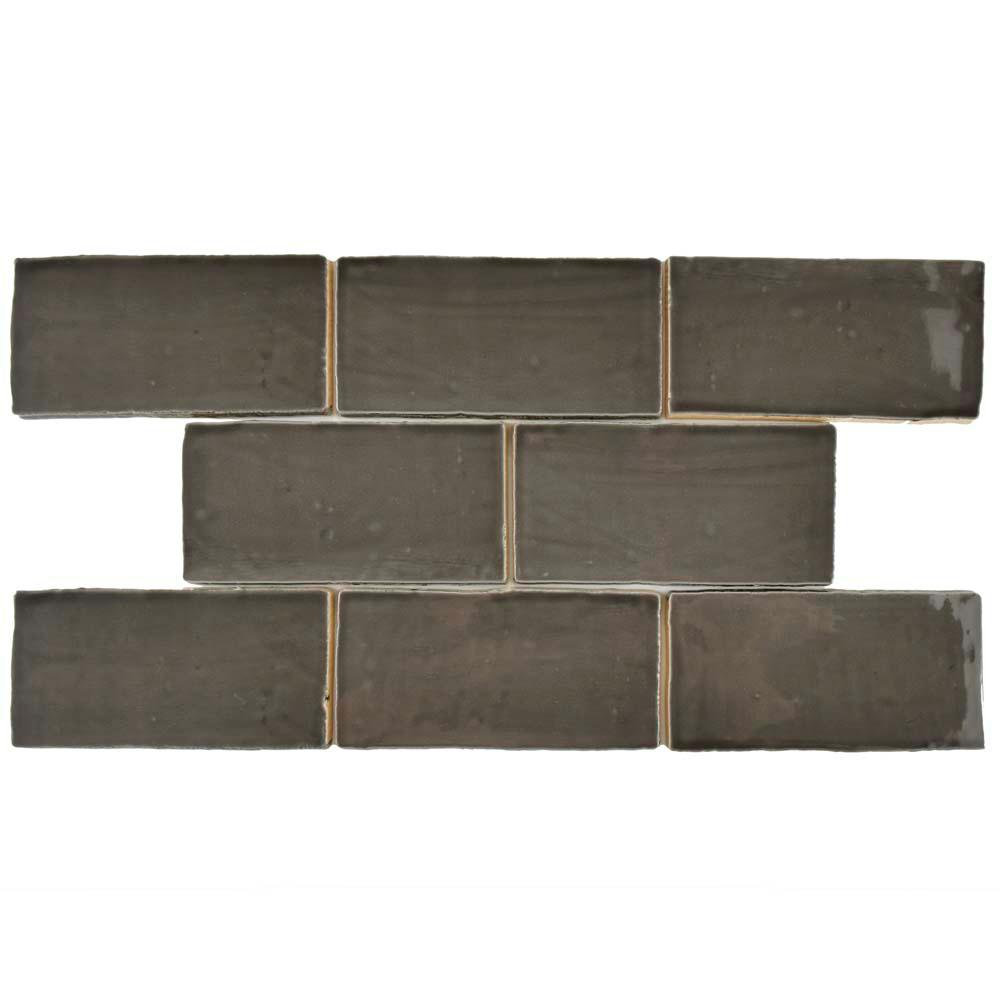 Chester Grafito 3 in. x 6 in. Ceramic Wall Tile (1