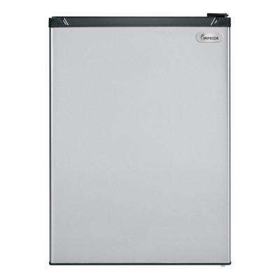 24 in. 5.5 cu. ft. Undercounter Built in Mini Refrigerator in Stainless Look