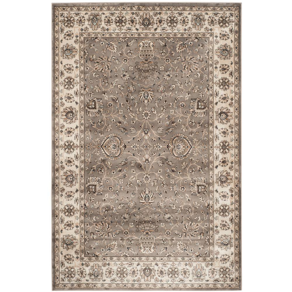 Persian Garden Gray/Ivory 4 ft. x 6 ft. Area Rug