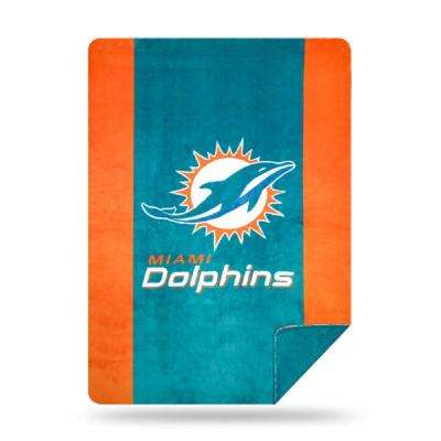 Dolphins Multi Color Acrylic Sliver Knit Throw
