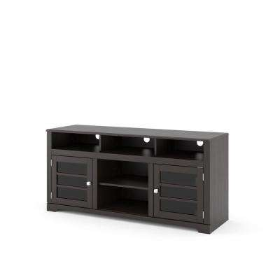 West Lake Mocha Black TV Bench for TVs up to 68 in.