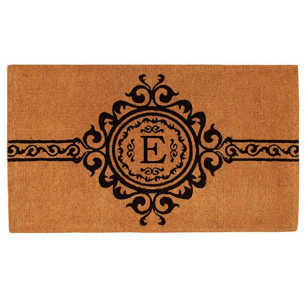 Home & More Garbo Monogram Door Mat, Extra-Thick 36 in. x 72 in. (Letter E)
