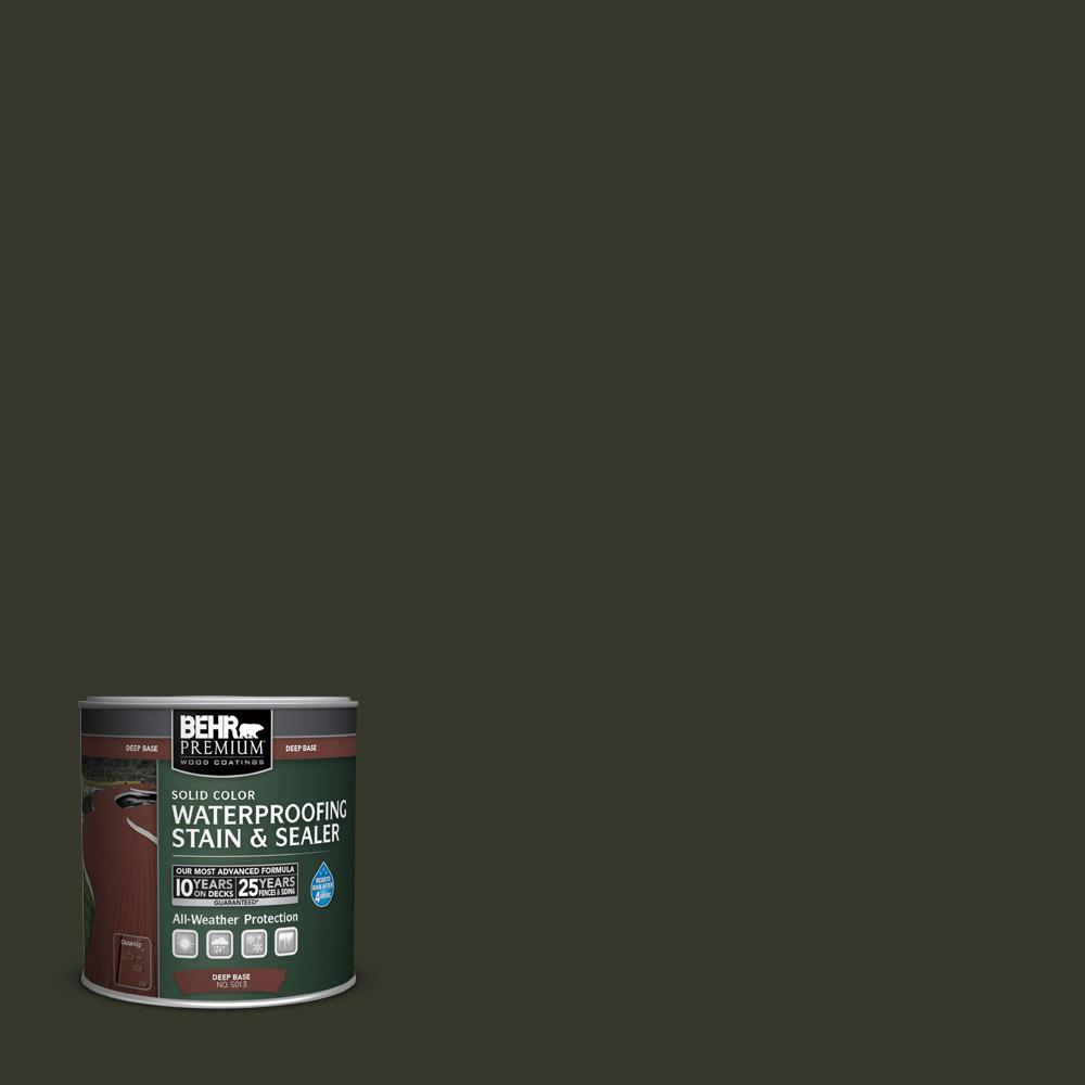 8 oz. #SC-108 Forest Solid Color Waterproofing Stain and Sealer Sample