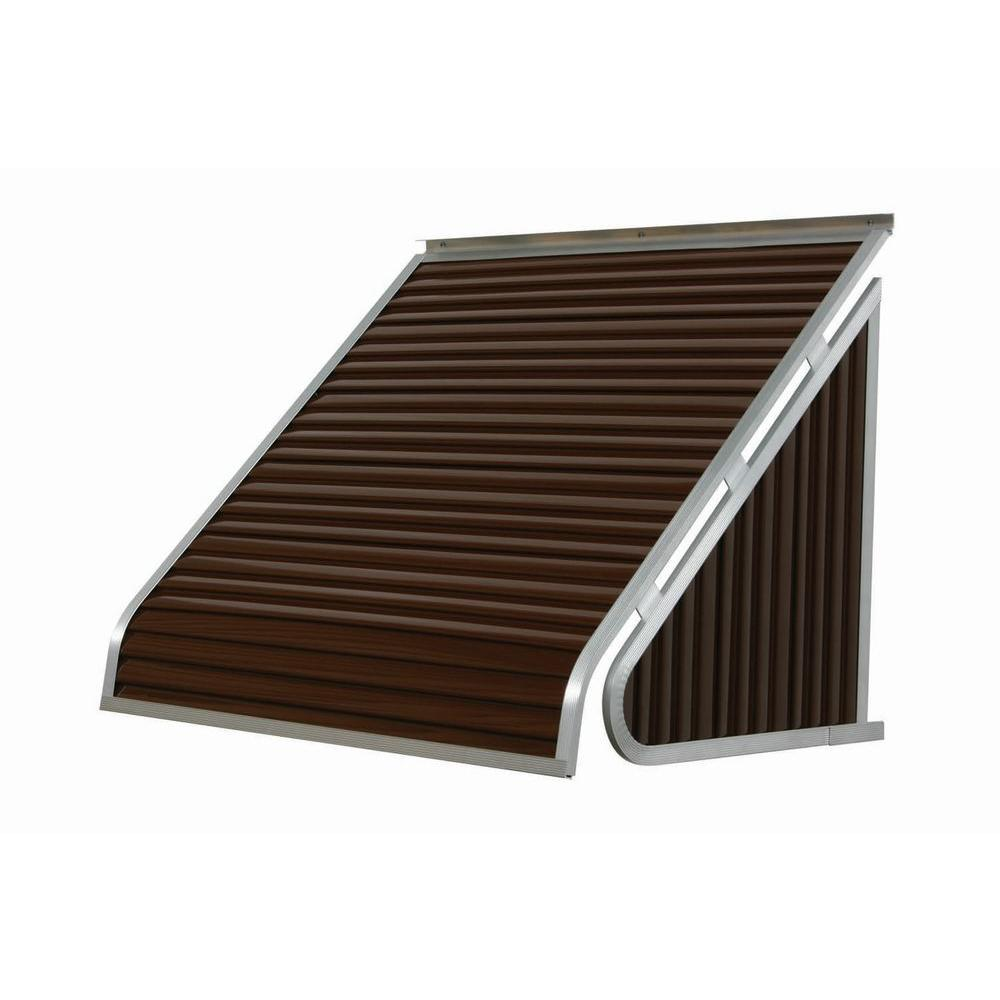 NuImage Awnings 3 ft. 3500 Series Aluminum Window Awning (24 in. H x 20 in. D) in Brown
