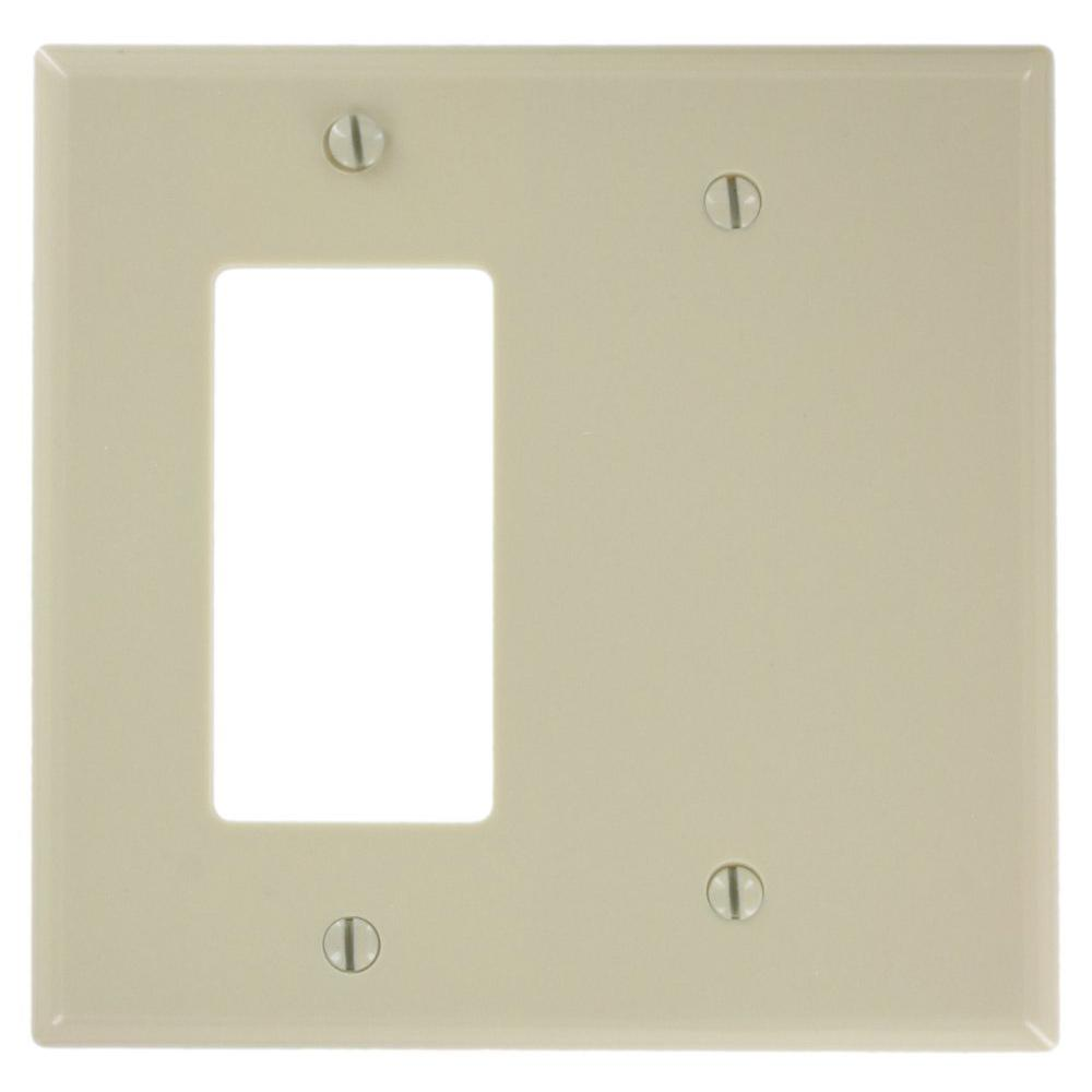 2-Gang Midway Size 1-Decora 1 No Device Blank Plastic Combination Wall
