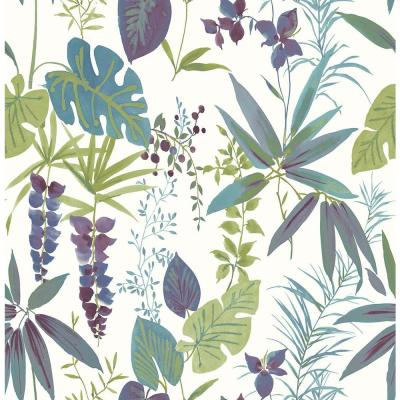 Descano Exotic Plum Botanical Wallpaper