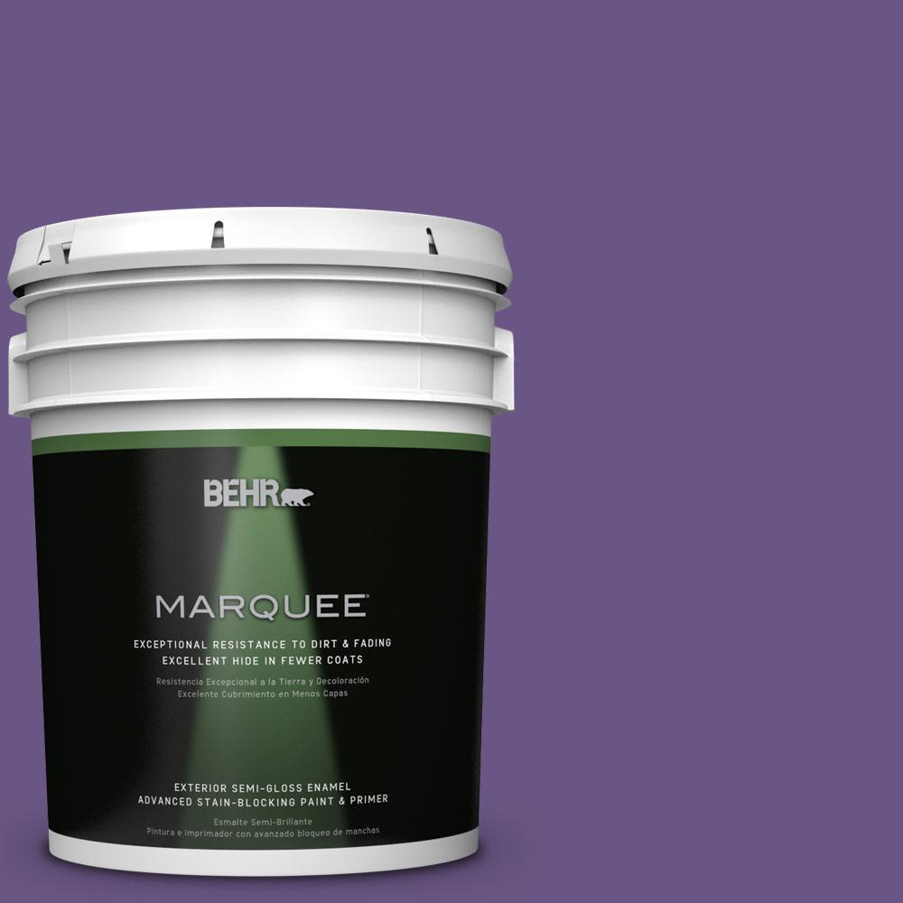 BEHR MARQUEE 5-gal. #PPU16-2 Vigorous Violet Semi-Gloss Enamel Exterior Paint
