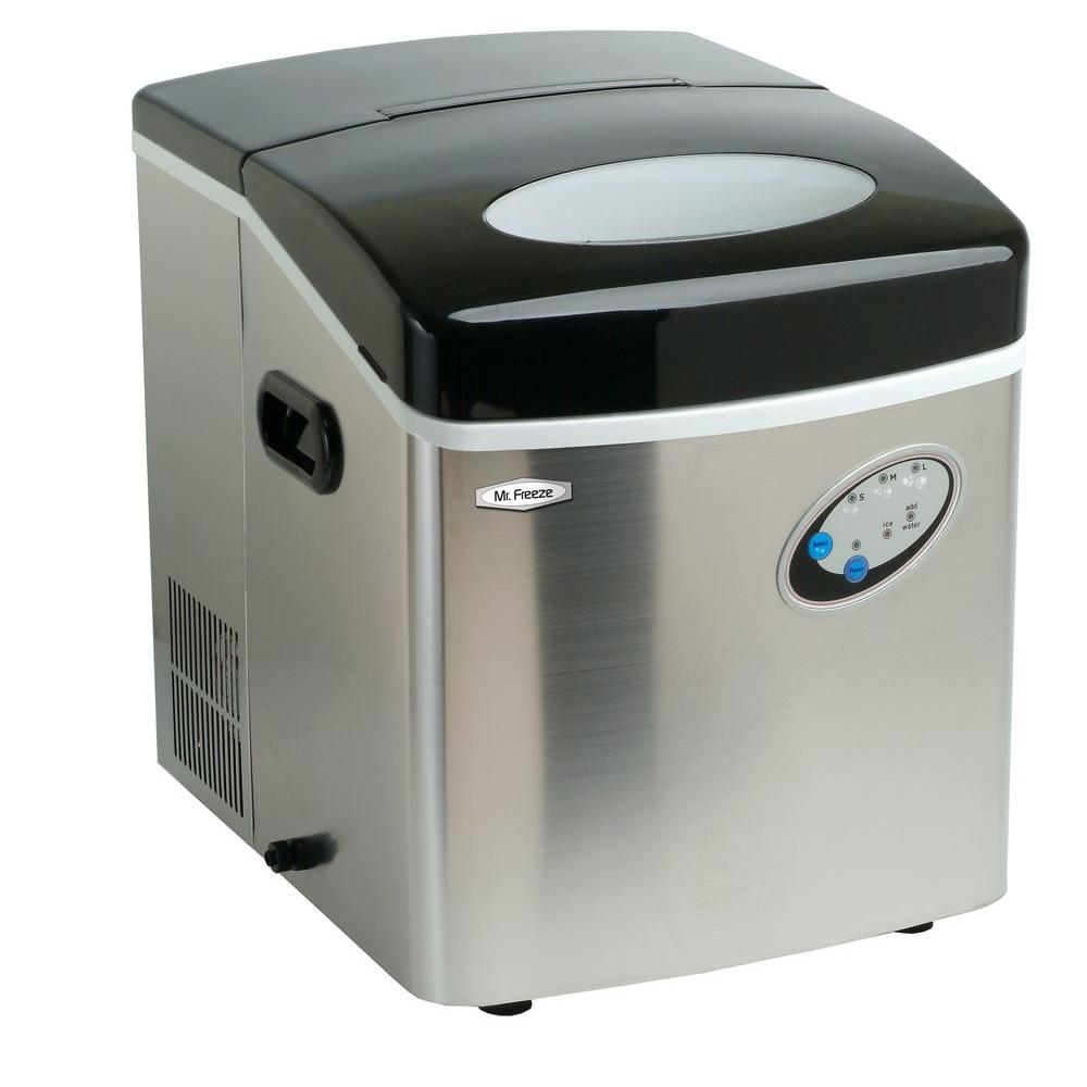 40 lb. Freestanding Ice Maker in Black