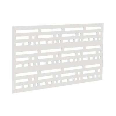 4 ft. x 2 ft. White Morse Polymer Decorative Screen Panel