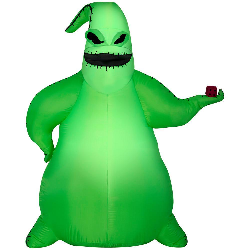 HomeDepot.com deals on Disney 6 ft. Pre Lit Inflatable Green Oogie Boogie Airblown