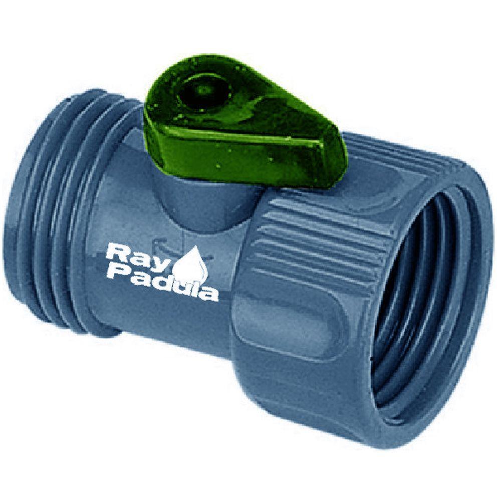 Plastic Garden Hose Shut-Off Adapter
