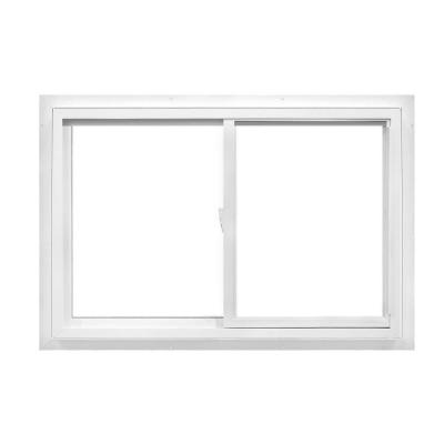 48 in. x 48 in. 50 Series Sliding White Vinyl Window with Nailing Flange, Right Hand