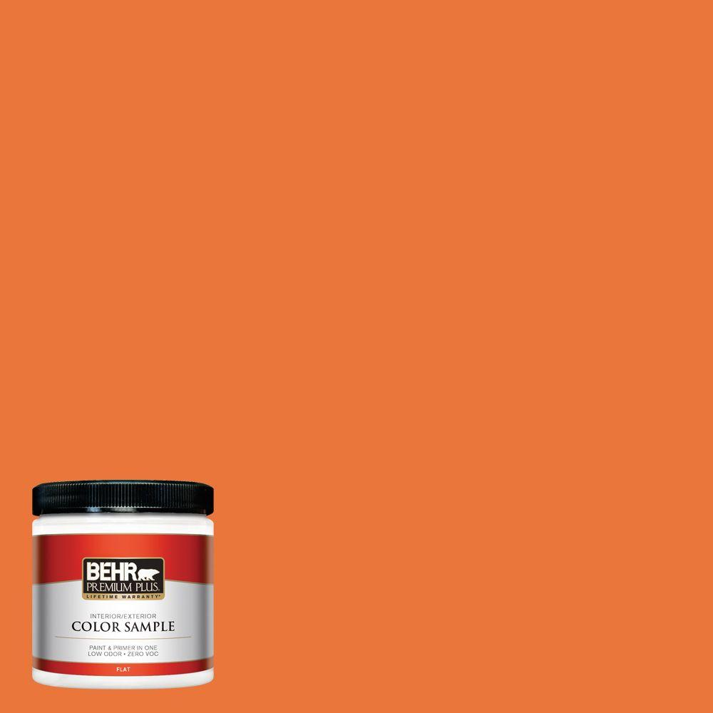 BEHR Premium Plus Home Decorators Collection 8 oz. #HDC-MD-27 Tart Orange Zero VOC Interior/Exterior Paint Sample