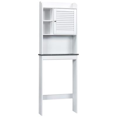 23.5 in. W x 68.5 in. H x 7.5 in. D Space Saver in White