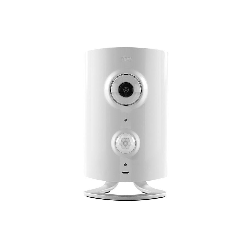 iControl Networks Piper classic All-in-One Security System with Video Monitoring Camera bundle - White