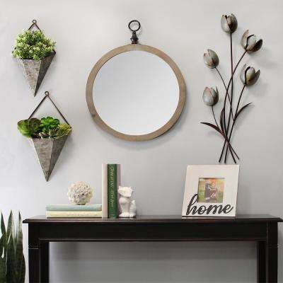 Galvanized Flower Bunch Wall Decor