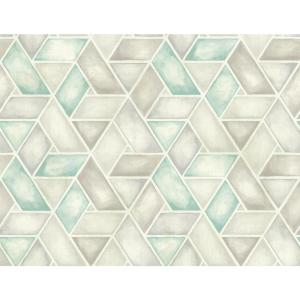 Seabrook Designs Kentmere Geo Teal And Grey Paper Strippable Roll Covers 60 75 Sq Ft Lg91306 The Home Depot