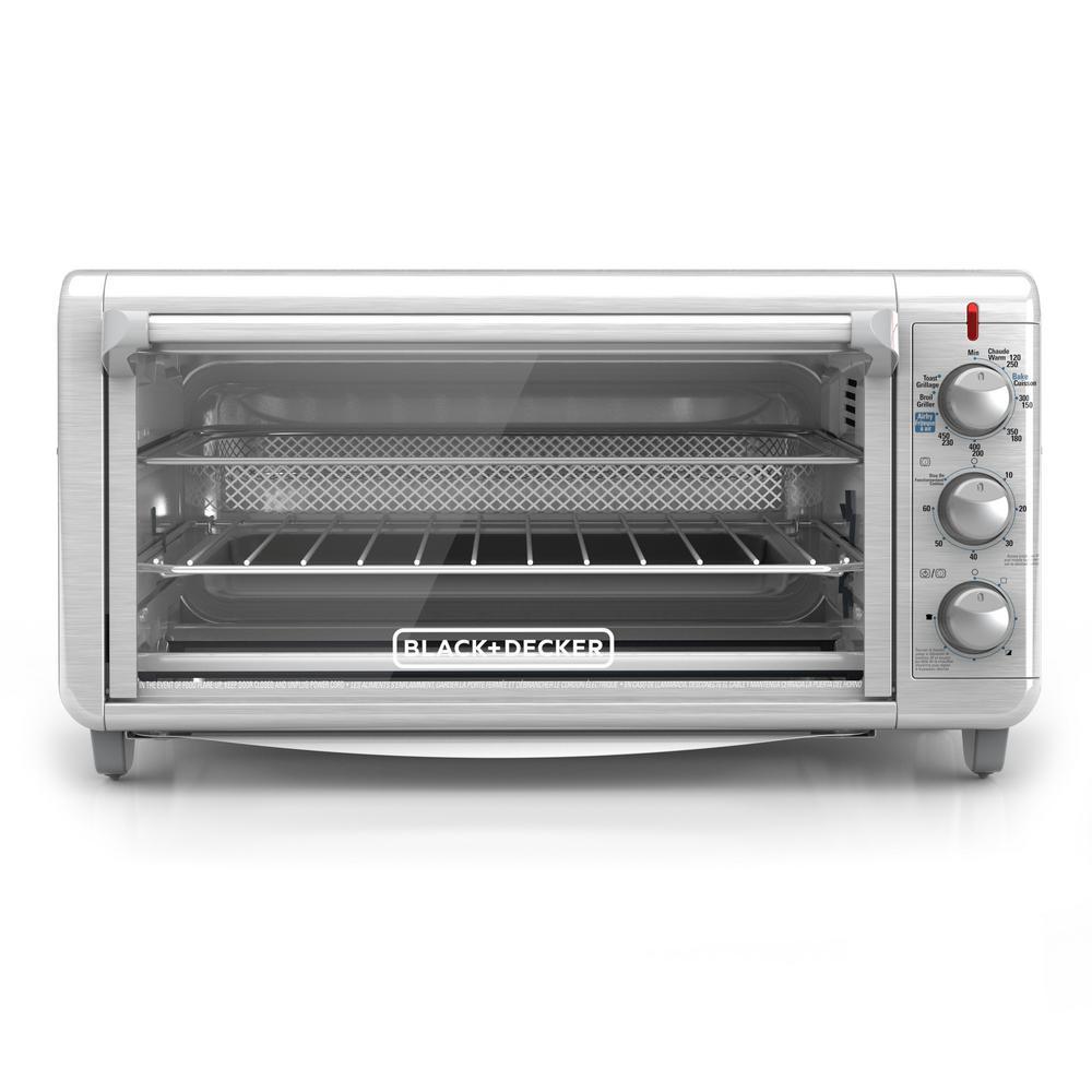 Crisp 'N Bake Extra Wide 1500 W 8-Slice Stainless Steel Countertop Oven