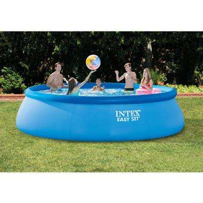 15 ft. Round 48 in. Deep Easy Set Swimming Pool with 1,000 GPH Filter Pump