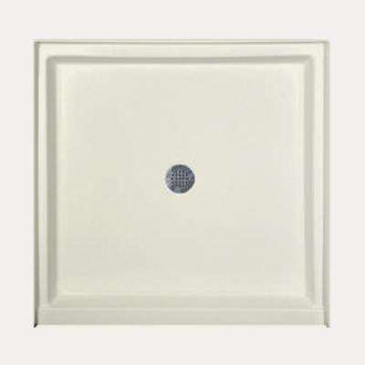 42 in. x 34 in. Single Threshold Shower Base in Biscuit