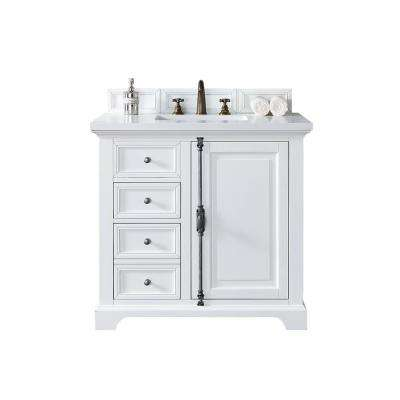 Providence 36 In W Single Vanity Cottage White With Quartz Top