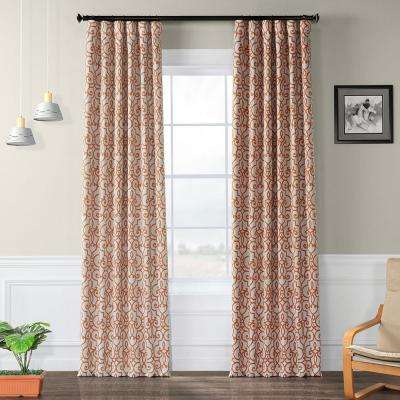 Semi-Opaque Nouveau Tan Blackout Curtain - 50 in. W x 120 in. L (Panel)